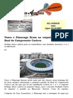 Em Jogo Pegado, Vasco e Flamengo Ficam No Empate Na Primeira Final Do Campeonato Carioca