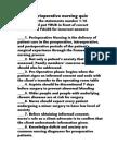 Perioperative Nursing Quiz