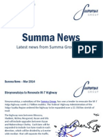 Summa Group March 2014 News