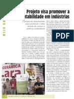 Projeto visa promover a sustentabilidade em indústrias - Cerâmica Vermelha