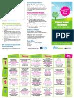 School meals menu April 2014 - March 2015