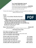 03-29-13 Good Friday Bulletin 2013