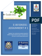 Assignment # 1 E Commerce 9 Jan 2014