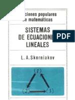 (Ed.MIR) Skorniakov - Sistemas de Ecuaciones Lineales (Esp)