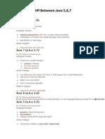 Diff Between Java 5 6 7