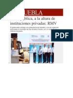 04-04-2014 Milenio.com - Salud pública, a la altura de instituciones privadas, RMV.