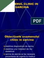 Examenul Clinic in Sarcina
