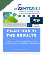 Report Pilot Run 1