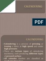 Calendering