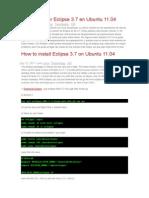 Cómo instalar Eclipse 3