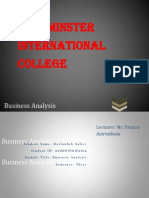 Business Analysis Assignment