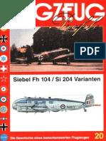 (Flugzeug Profile No.20) Siebel Fh 104/Si 204 Varianten