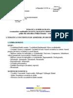 Tematica Si Bibliografie Pentru Scolile de Agenti de Politie - Admitere 2013
