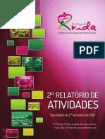 II Relatório de Atividades - Instituto Unidos Pela Vida - 2º Sem.2013