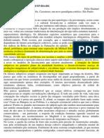 DA PRODUÇÃO DE SUBJETIVIDADE - GUATTARI