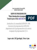 invitaciones programacion sesion