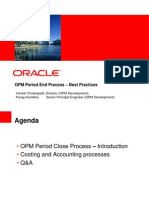 Oracle Process Manufacturing Period End Closing Process