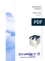 Christ Freeze Dryers Operational Manual