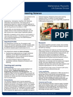 Engineering Science Flyer 2012