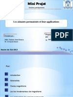Les Aimants Permanets Et Leurs Application