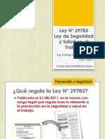 Ley de Seguridad y Salud en el Trabajo, Ley N° 29783 - SEGURIDAD INDUSTRIAL