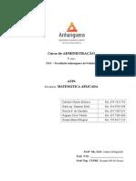 ATPS MATEMATICA