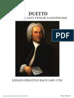 Bach for alto and tenor sax