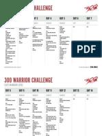300 Elite Warrior Schedule