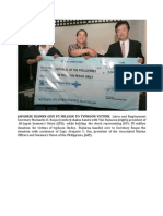 Japanese Seamen Give p5 Million to Typhoon Victims