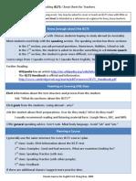 IELTS - Cheat Sheet - For Teachers