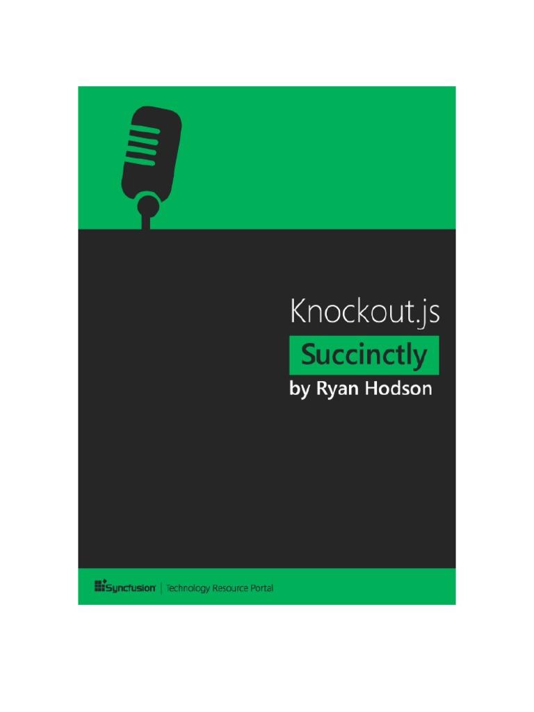 Knockoutjs Succinctly | Java Script | Model–View–Controller