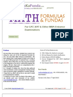 Quantitative Analysis fundamentals in CAT