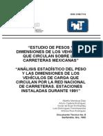 AASHTO, Estudio Pesos y Dimensiones Vehiculos Mexicanos