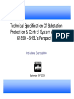 Gautam Chakledhar BHEL Technical Specification of Substation Protection Control System