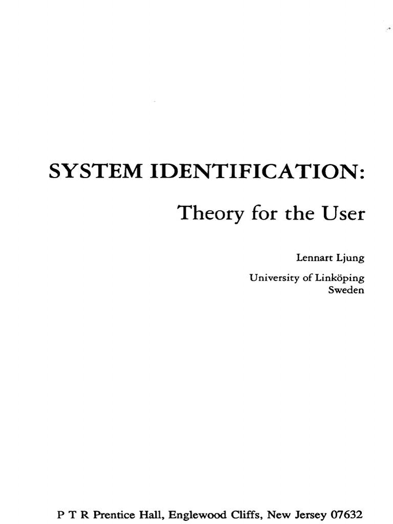 ljung l system identification theory for user rh scribd com