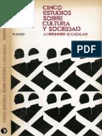 Brunner, Jose Joaquín y Gonzalo Catalán. Cinco estudios sobre cultura y sociedad (Brunner y Catalán)