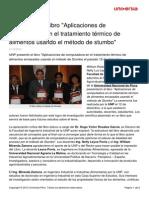 Unp Presenta Libro Aplicaciones Computadora Tratamiento Termico Alimentos Usando Metodo Stumbo