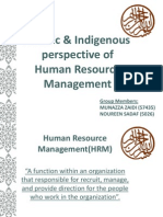 Islamic & Indigenous - HRM