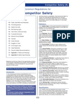 153 191 Common Regulations for Competitors (Safety) (K)