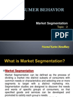 Topic 2-Marketing Segmentation