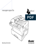 Muratech F320 Operators Manual