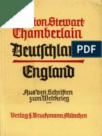 Chamberlain, Houston - Deutschland-England - Aus den Schriften zum Weltkrieg (1940)