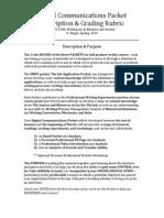 digital communications packet description and rubric