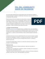 El Papel Del Community Manager en Facebook