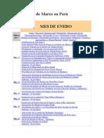 Calendario de Marzo en Perú