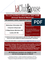 enfield clubhouse 2007 agm invitation