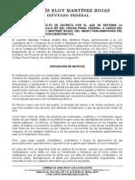 Iniciativa de Reforma Al Codigo Penal Federal