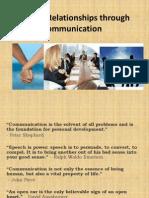 Building Relationships Through Communication