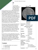 Mercury (Planet) - Wikipedia, The Free Encyclopedia
