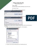 Fixing a Broken Docx File